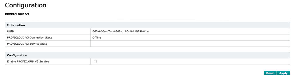 In the WBM you can find the UUID of the device in the Configuration → Proficloud V3 section.